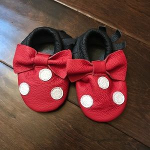 Other - Baby Red/Black Moccasins Slippers